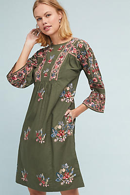 Slide View: 1: Olivia Embroidered Dress