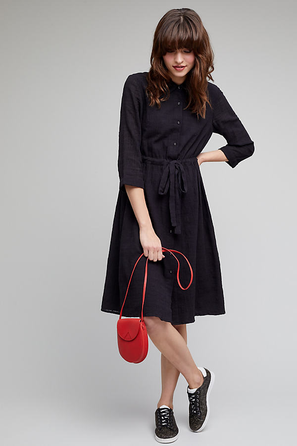 Mira Shirt Dress - Black, Size Uk 6