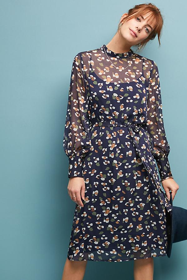 Claire Midi Dress - Blue, Size M