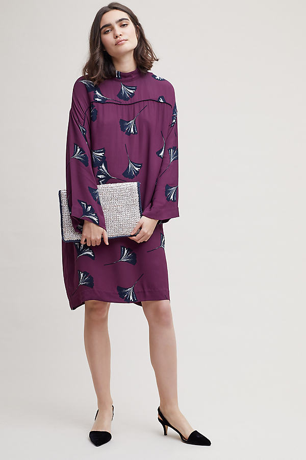 Sassa Floral Print Dress - Plum, Size L