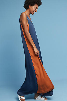 Slide View: 1: Colorblocked Maxi Dress