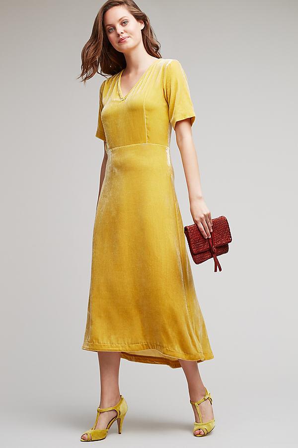 Blanche Midi Dress, Yellow - Yellow, Size M