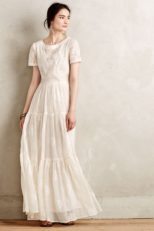 Embroidered Lera Maxi Dress | Anthropologie
