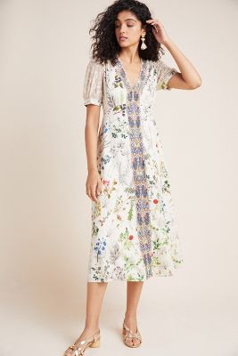 d95703a669aac Patchwork Trapeze Dress | Anthropologie