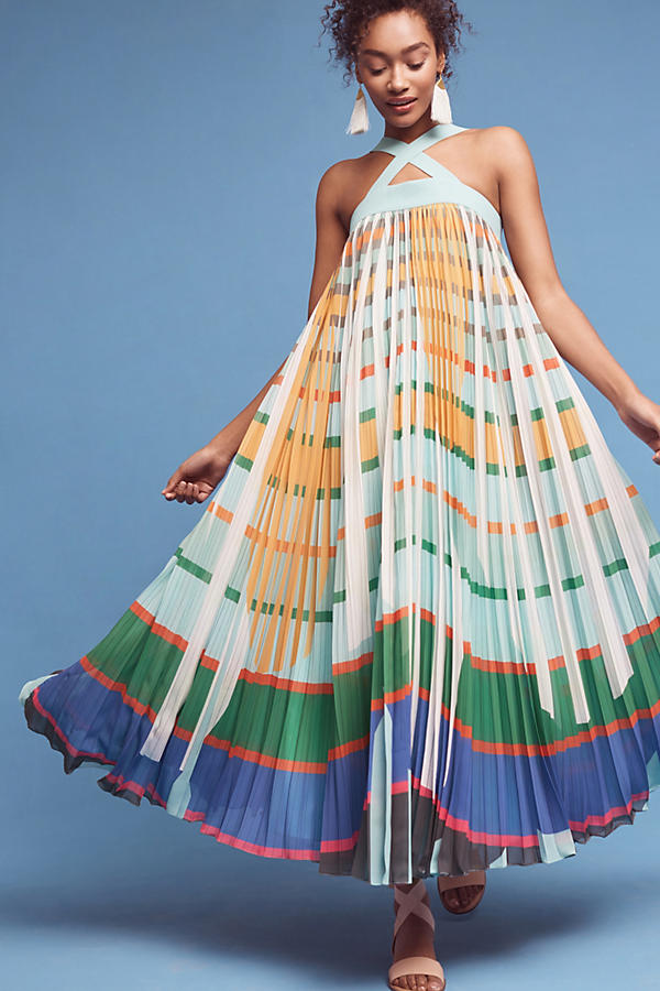 Slide View: 3: Abstraction Maxi Dress