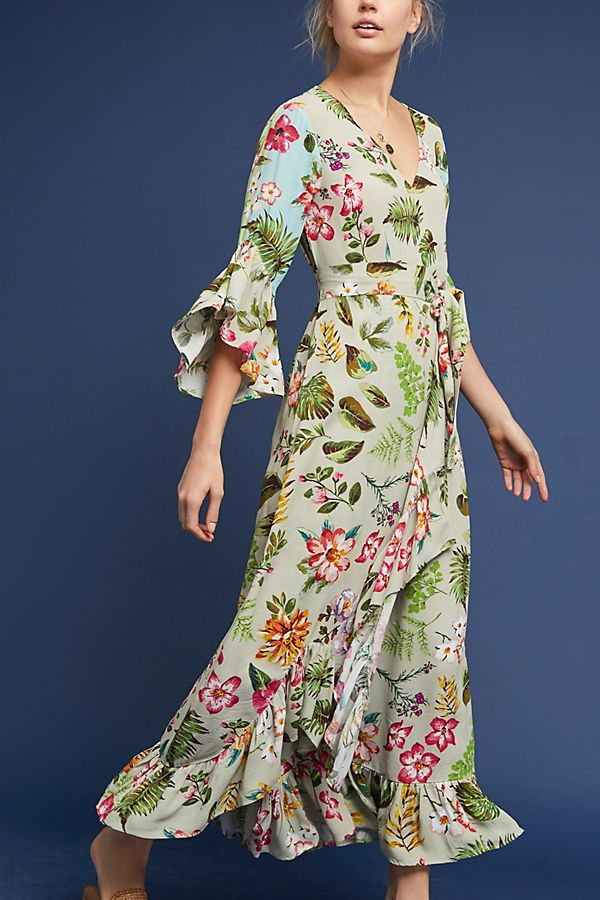 Ruth Floral Maxi Dress Anthropologie