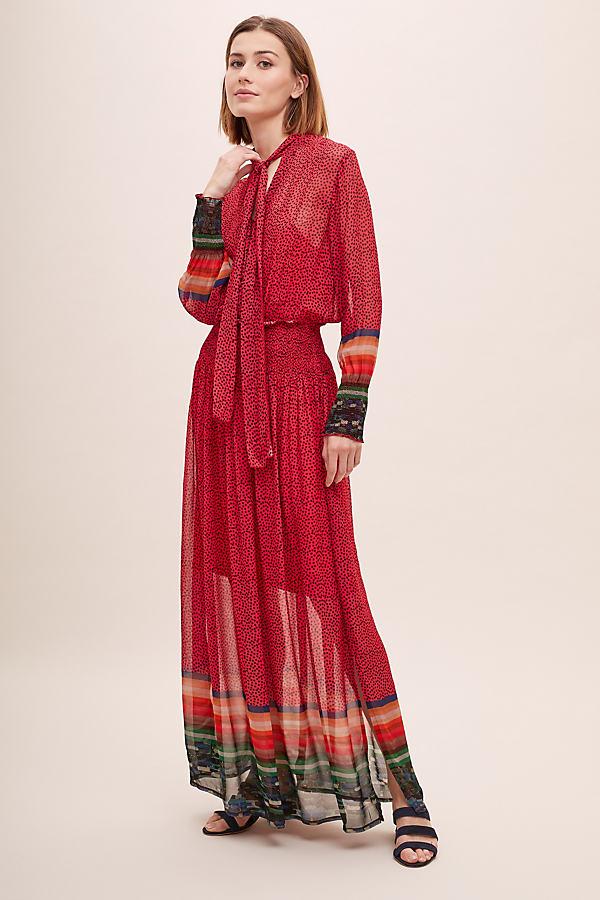 Deenisa Dress - Red, Size Xs