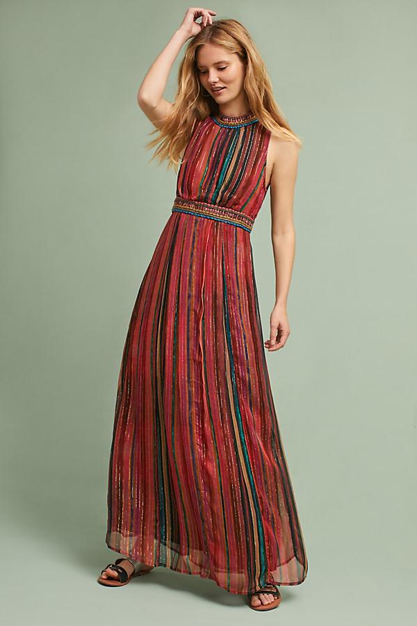 Artista Maxi Dress, Red - Red Motif, Size L