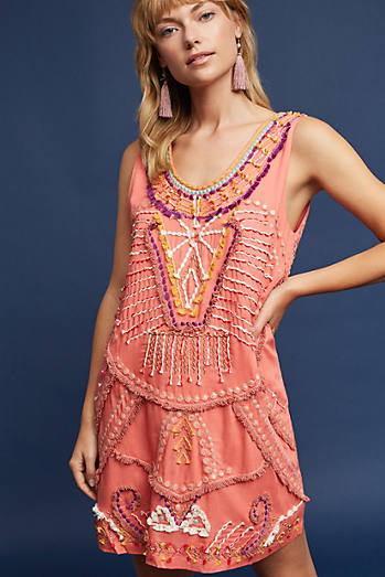 Reveka Embellished Shift Dress
