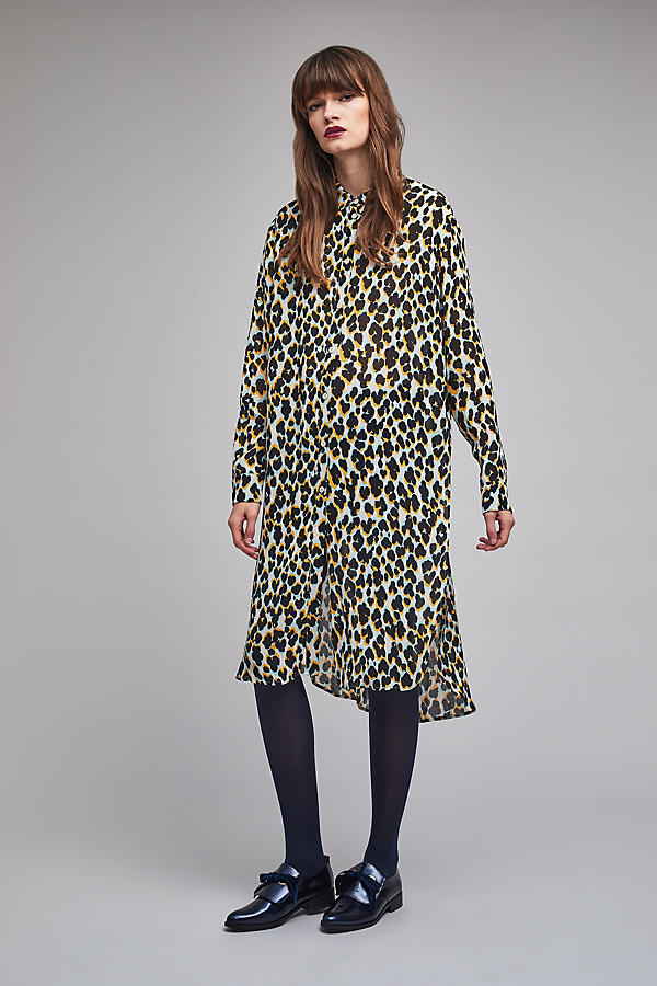 Vendra Leopard Print Shirt Dress - A/s, Size M