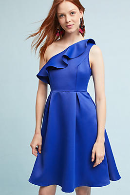 Slide View: 1: Shreya One-Shoulder Dress