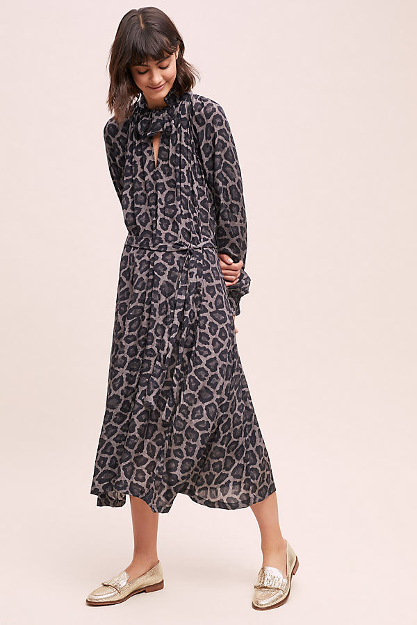 Leopard Print Midi Dress - Assorted, Size Uk 16