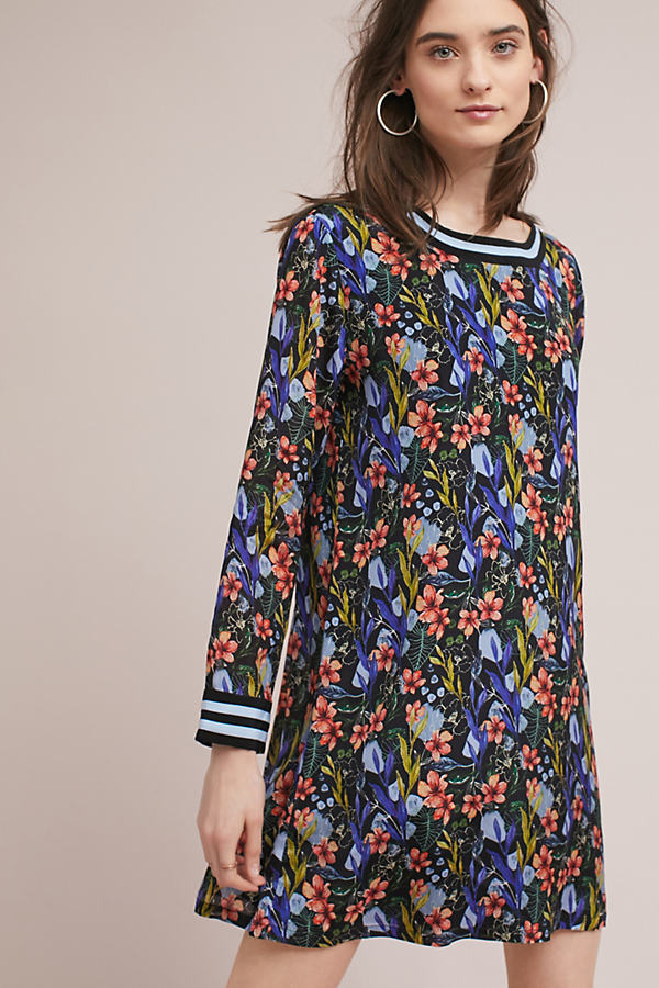 January Floral Track Tunic Dress - Assorted, Size Uk 8