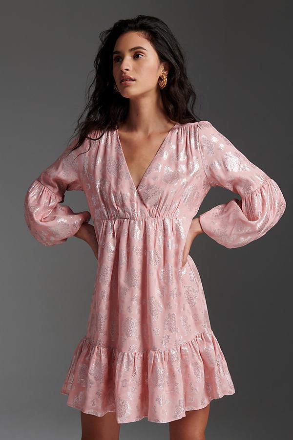 Masie Metallic Jacquard Mini Dress