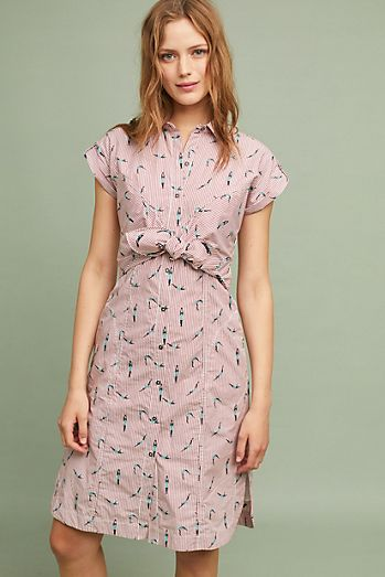 5cd5891c185 Swimmer Front-Tie Shirtdress