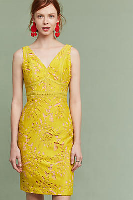 Slide View: 1: Gardenia Lace Column Dress