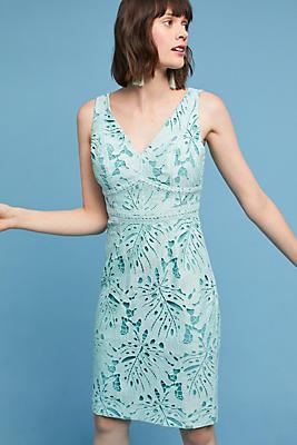 Slide View: 1: Gardenia Lace Column Dress