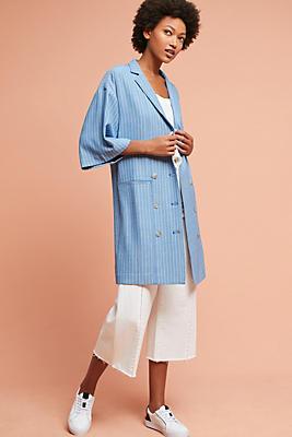 Slide View: 1: Striped Blazer Dress