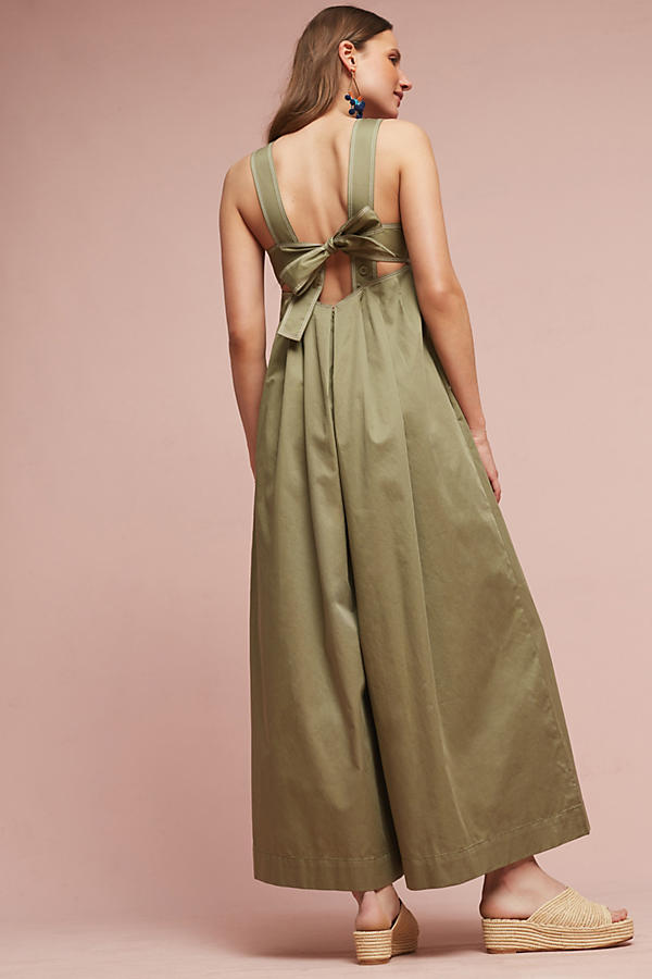 Slide View: 2: Amity Wide-Leg Jumpsuit, Olive