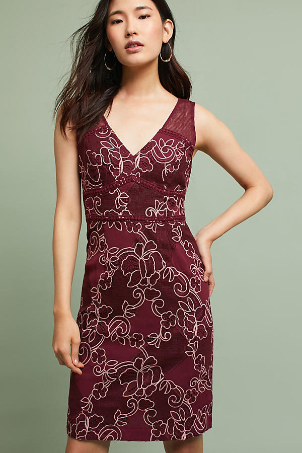 Slide View: 1: Ariana Lace Column Dress