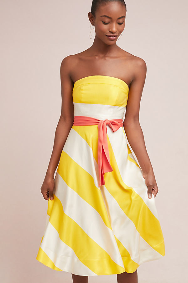 Adeliisse Striped Dress - Yellow
