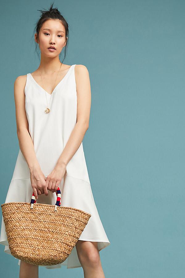 Charlotte Drop-Waist Dress - White, Size Xl