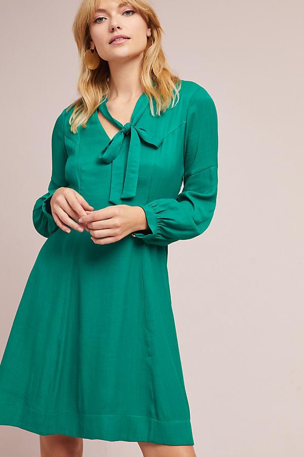 Gina Keyhole Dress - Green, Size Uk 12