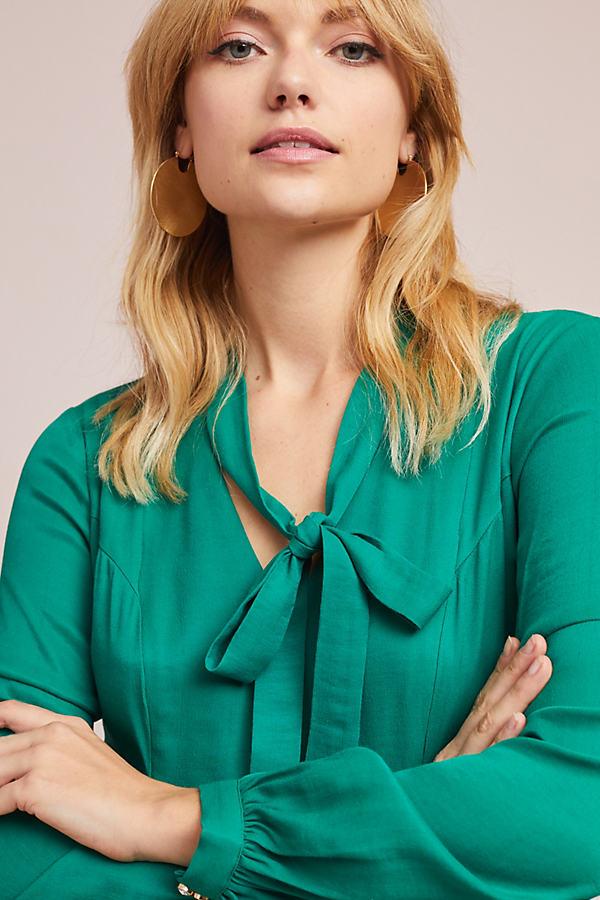 Gina Keyhole Dress - Green, Size Uk 6
