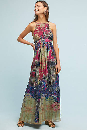 Abstracted Floral Maxi Dress