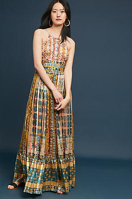 Slide View: 1: Larache Beaded Maxi Dress