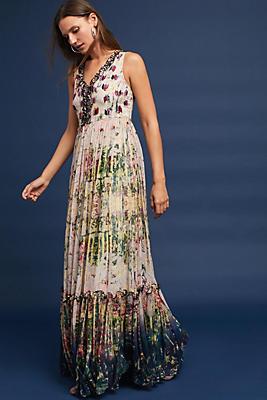Slide View: 1: Cydney Tiered Maxi Dress