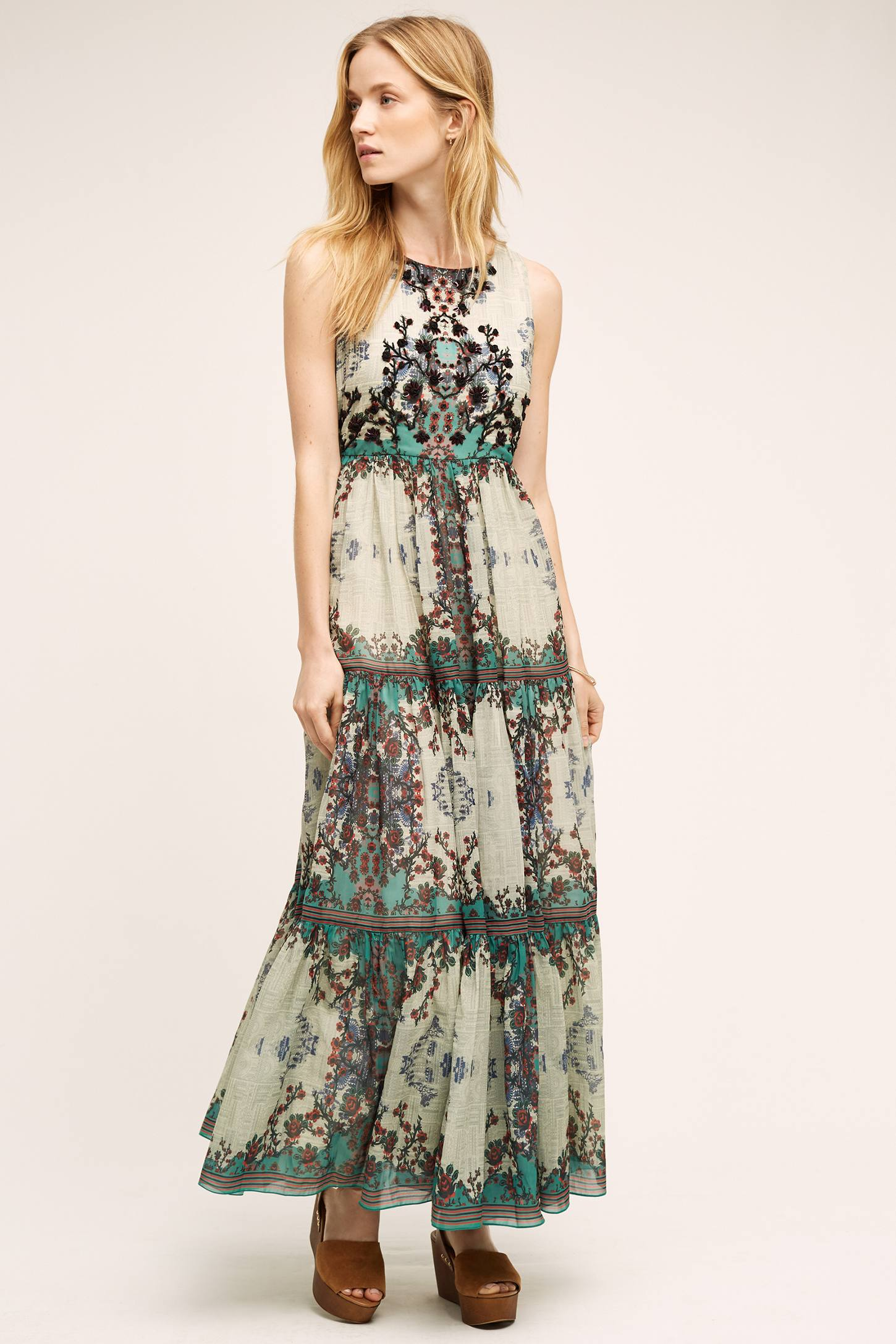 Madera maxi dress anthropologie for Anthropologie mural maxi dress