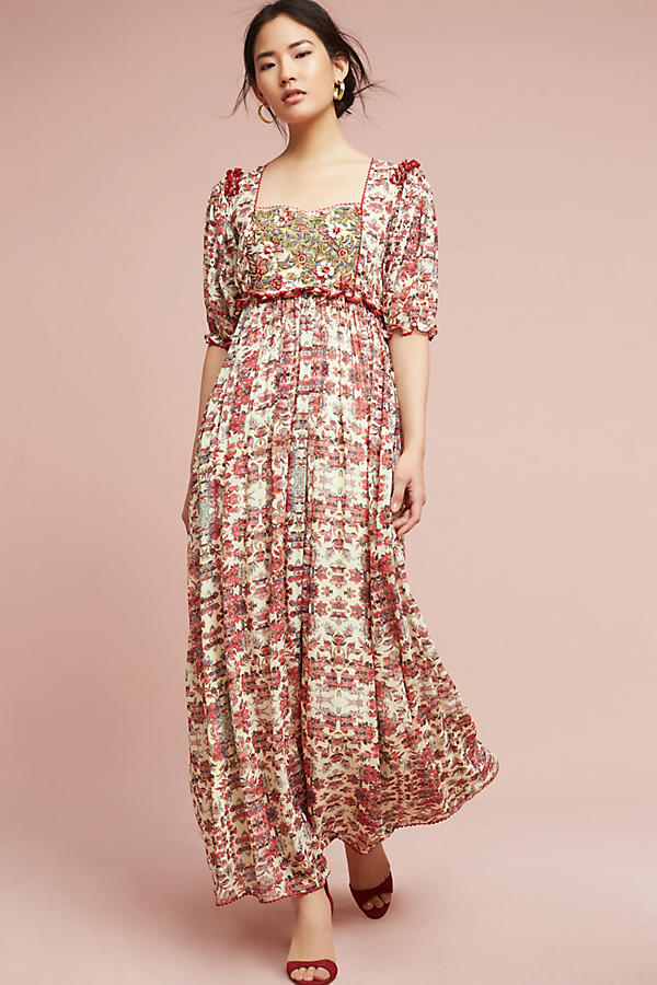 Slide View: 3: Robe longue Sidella, rose