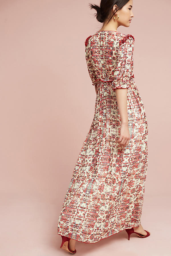 Slide View: 4: Robe longue Sidella, rose