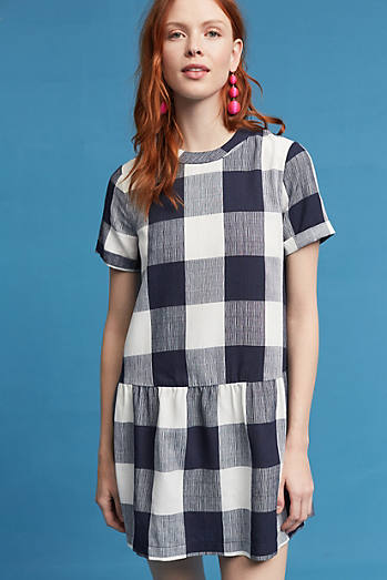 Halle Drop-Waist Gingham Dress