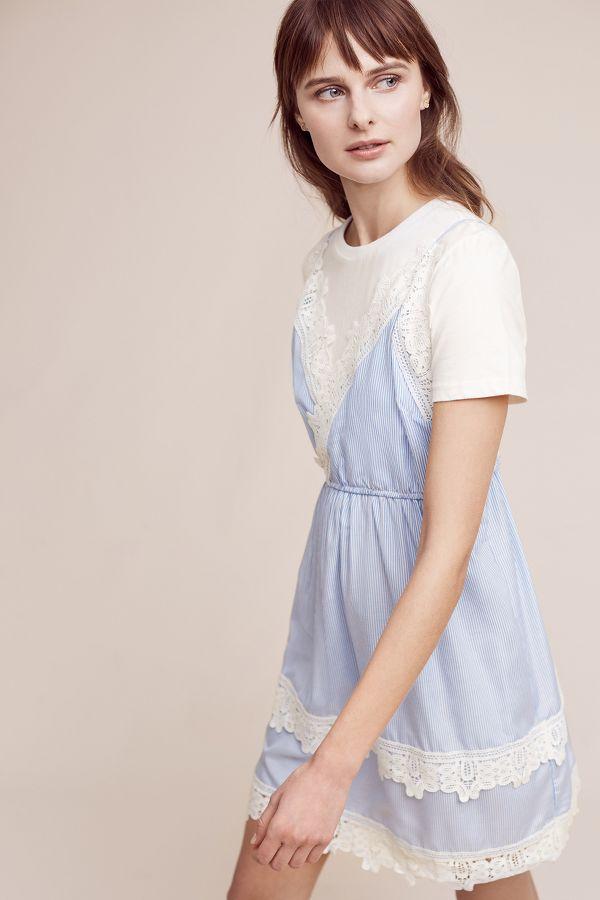English Factory Cevennes Layered Slip Dress