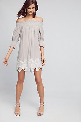 Slide View: 1: Madge Off-The-Shoulder Swing Dress