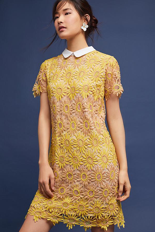 Veronica Lace Mini Dress - Pink, Size Xs
