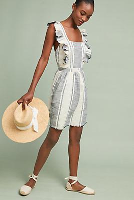 Slide View: 1: Canal Textured Apron Dress