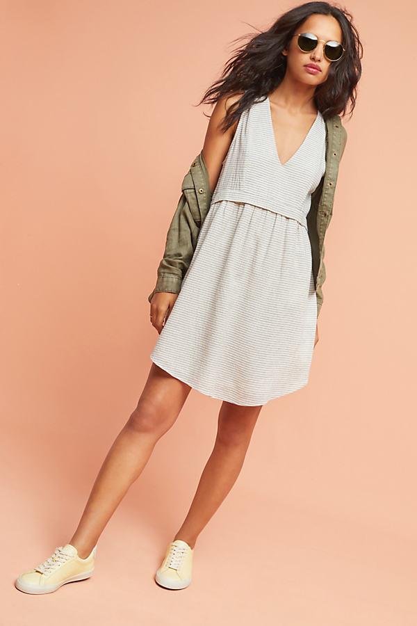 Laguna Striped Dress, Ivory - Ivory, Size M
