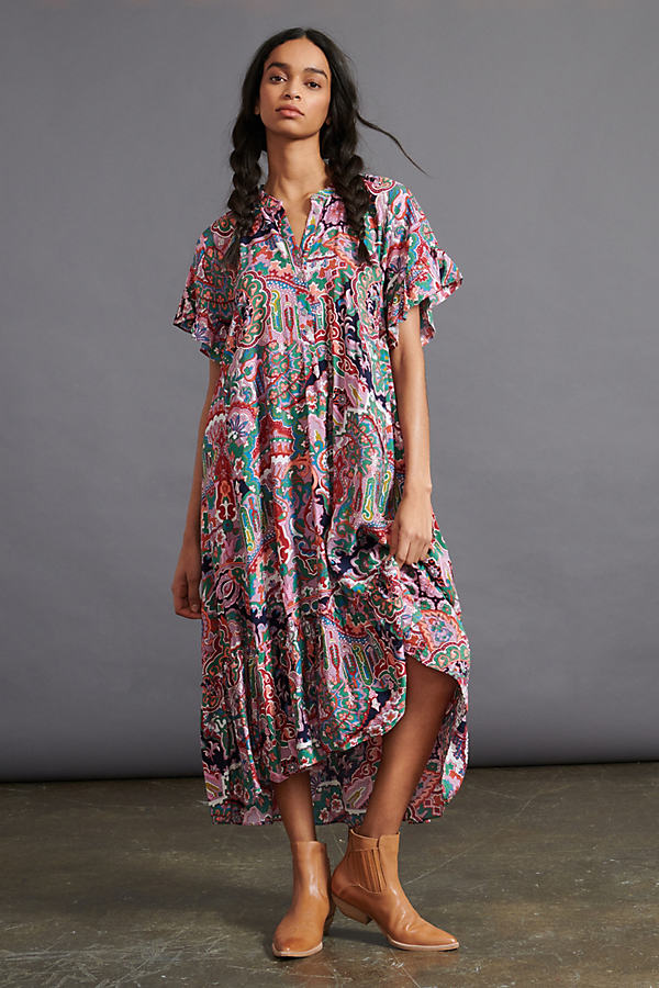 Antoinette Ruffled Midi Dress