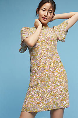 Slide View: 1: Paisley Silk Dress