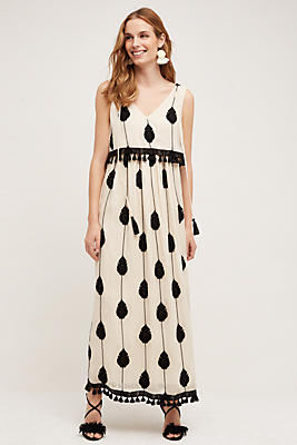 Embroidered Medallion Maxi Dress Anthropologie