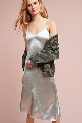 Slide View: 1: Metallic Asymmetrical Dress