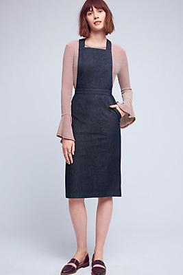Slide View: 1: Denim Pinafore Dress