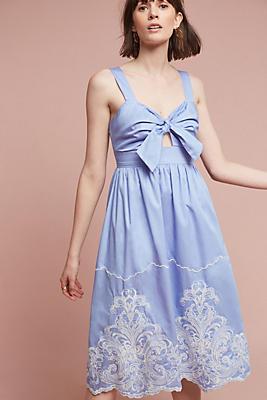Slide View: 1: Uma Embroidered Dress