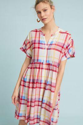 Tylho   Plaid Tunic Dress  -    PINK