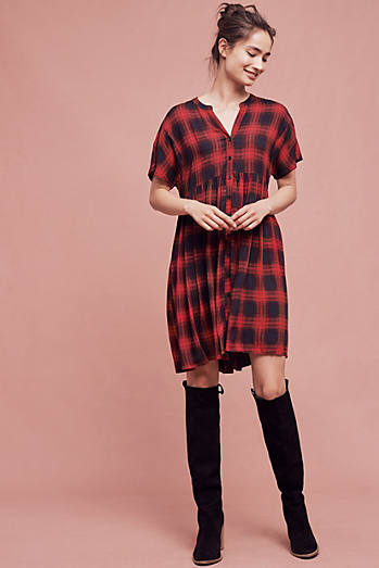 Mona Plaid Dress