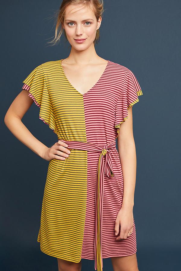 Sora Gestreiftes Kleid mit Rüschen - Sortiert