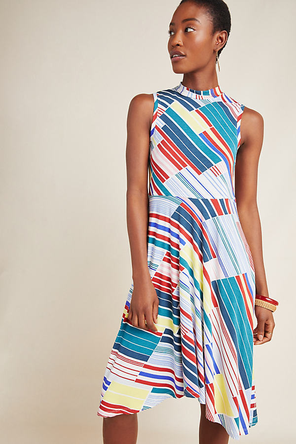 Cyprus Swing Dress - Neutral Motif, Size M